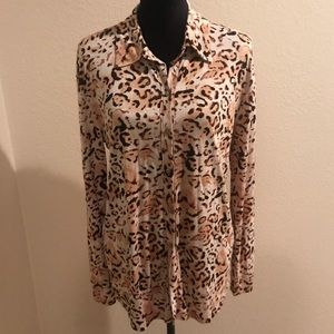 NWT Michael Stars Cheetah Print Shirt - 1 (small)